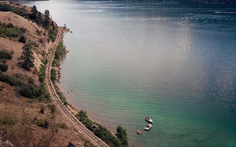 Scott Conarroe - Boaters, Kalamalka Lake, detail (By Sea series), 2008