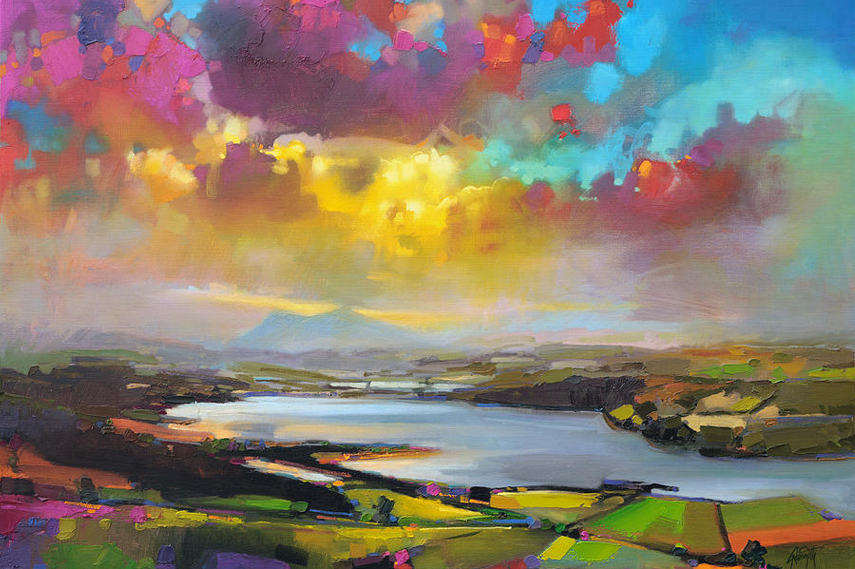 Scott Naismith - Struie Hill Dornoch - Image via Fineartamerica com oil page color