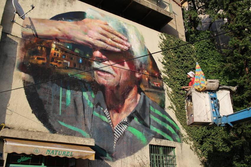 Sebas Velasco - Explorare Necesse Est, mural, Rijeka, Croatia