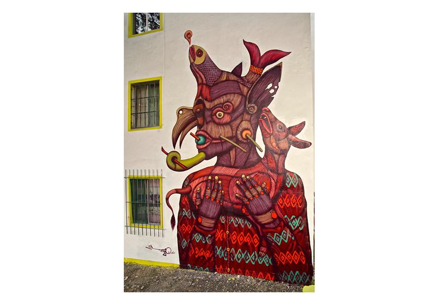 Mural in Oaxaca