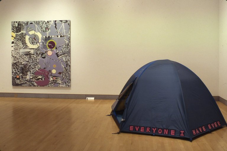 Tracey Emin - Everyone I Have Ever Slept With 1963–1995 in the Sensation exhibition Brooklyn Museum