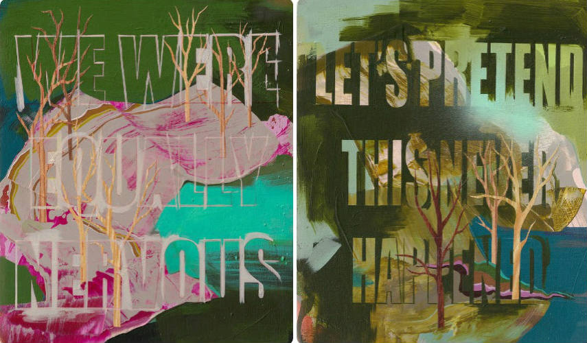 Seonna Hong - Devine Nervousness, 2012 (left) - From Now On, 2012 (right)