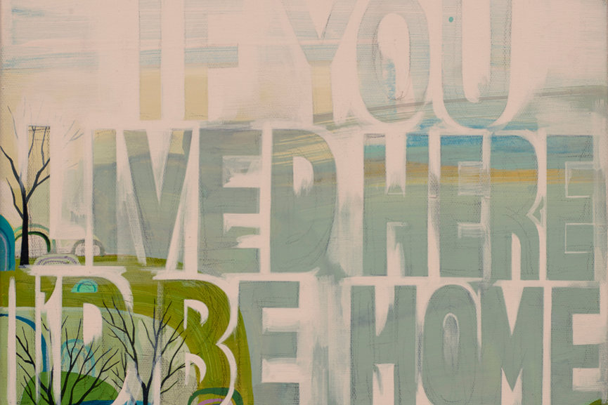 Seonna Hong - If You Lived Here, detail