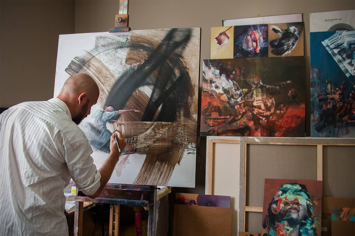 Sepe in his studio