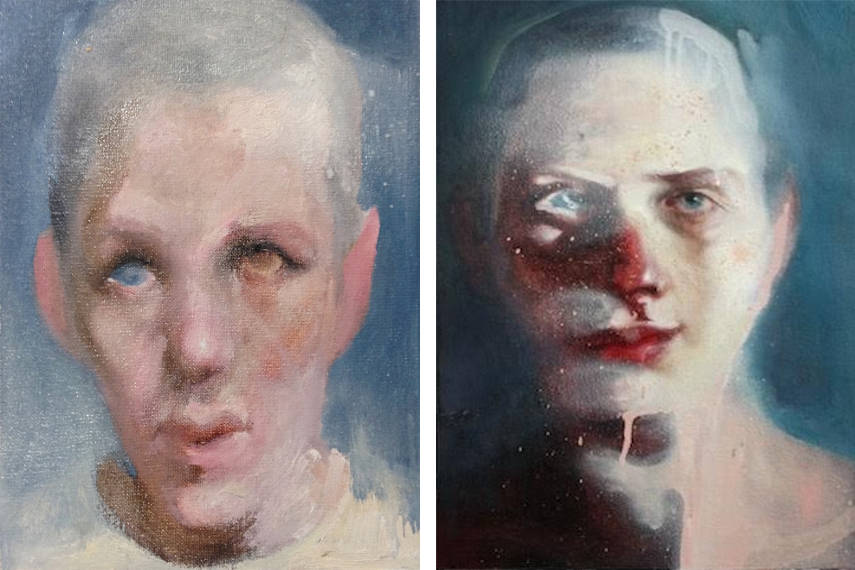 Sergey Kononov - Sans Titre, 2016, image via artsper.com (Left)_Sergey Kononov - Untitled, 2016, image courtesy of the artist (Right)