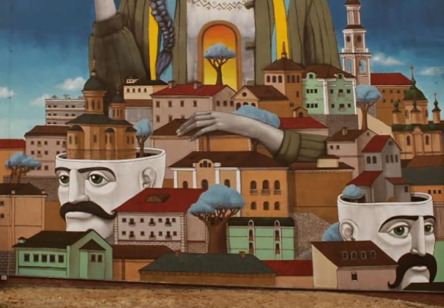 Mural in Ukraine
