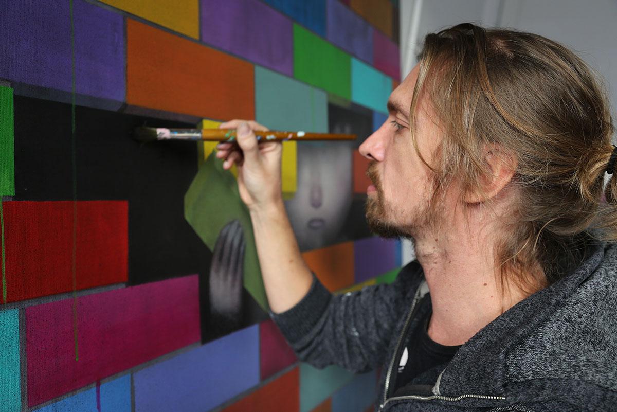 Seth in the studio, 2017