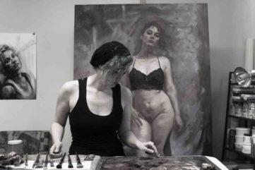 Shaina Craft in her studio
