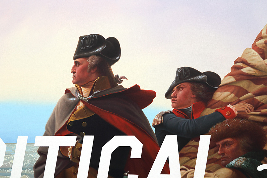 Shawn Huckins Washington Crossing The Delaware, Critical Drinking, detail