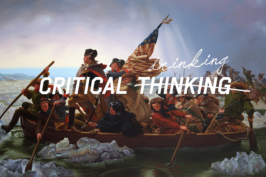 Shawn Huckins Washington Crossing The Delaware, Critical Drinking