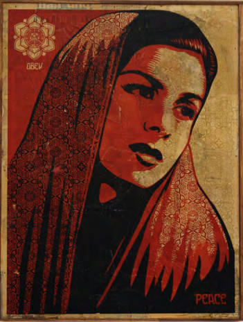 Shepard Fairey-Peace Mujer-2007