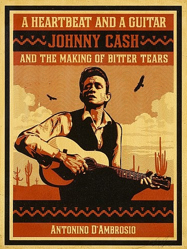 Shepard Fairey-A Heartbeat and a Guitar - Johnny Cash *-2009