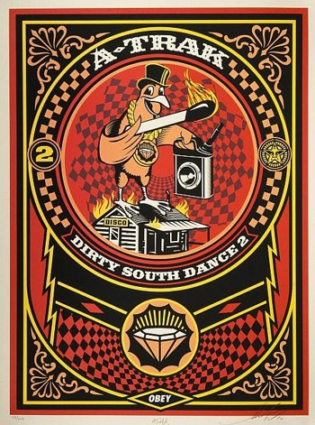Shepard Fairey-A Trak Dirty South Dance 2-2010