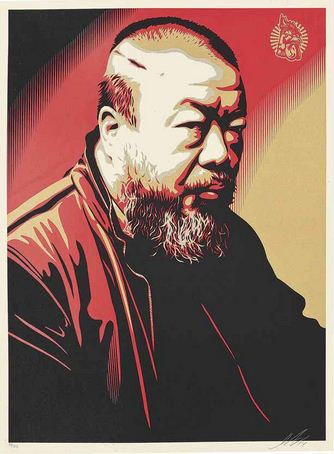 Shepard Fairey-Ai Weiwei-2014