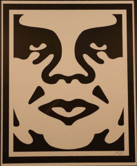 Shepard Fairey-Andre The Giant Face (Cream)-