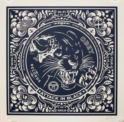 Shepard Fairey-Attack In Black-2011