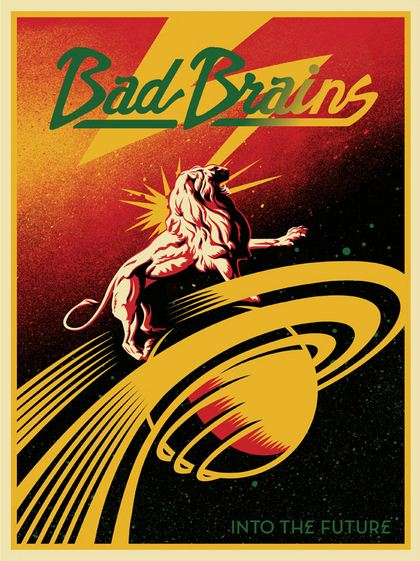 Shepard Fairey-Bad Brains into the Future-2012