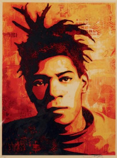 Shepard Fairey-Basquiat Canvas Print-2010