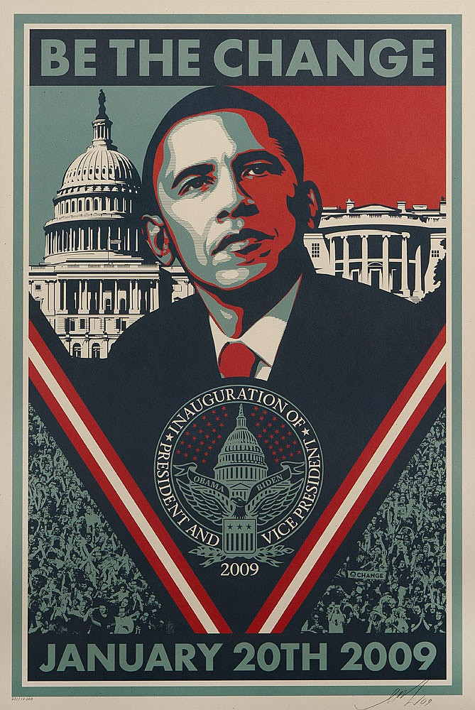 Shepard Fairey-Be the Change-2009