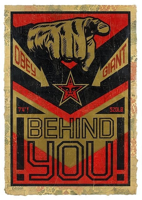 Shepard Fairey-Behind You-2009