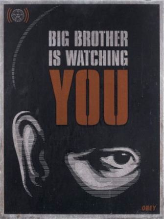 Shepard Fairey-Big Brother is Watching You-2006