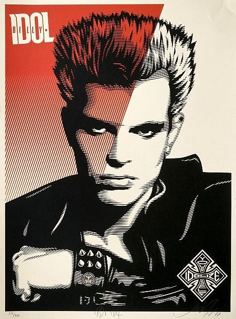 Shepard Fairey-Billy Idol-2008