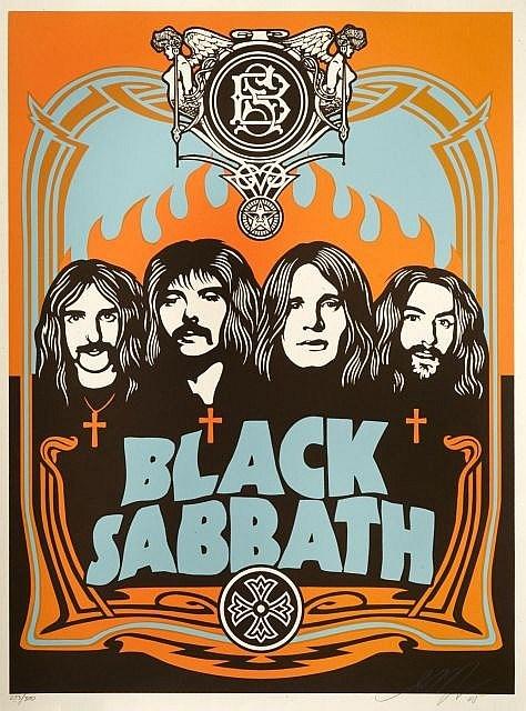 Shepard Fairey-Black Sabbath (Orange Edition)-2005