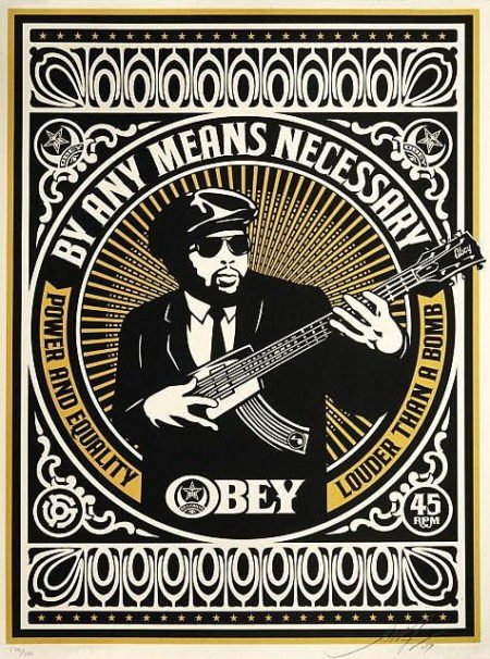 Shepard Fairey-By Any Means Necessary (Yellow)-2007