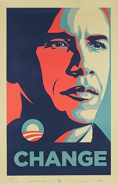 Shepard Fairey-Change-2008