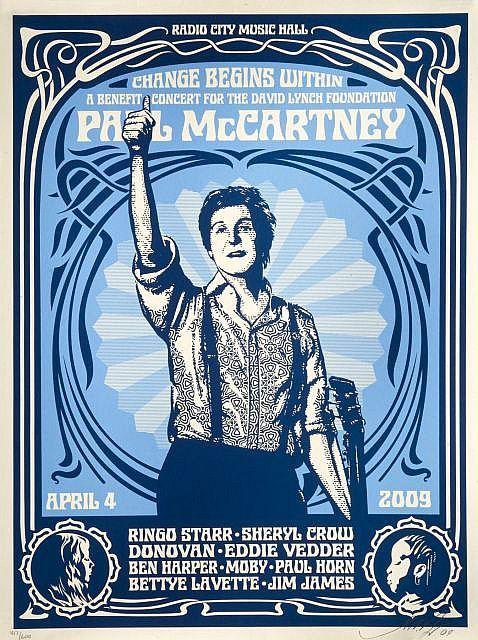 Shepard Fairey-Change Begins (Blue Edition)-2009