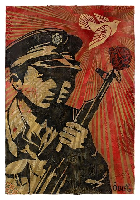 Shepard Fairey-Chinese Soldiers-2007