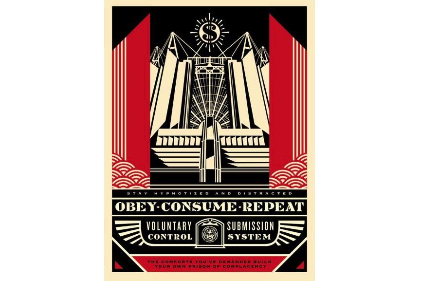 Shepard Fairey - Church of Consumption, 2017
