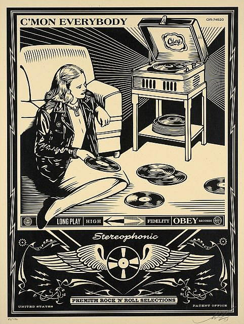 Shepard Fairey-C'mon Everybody-2013