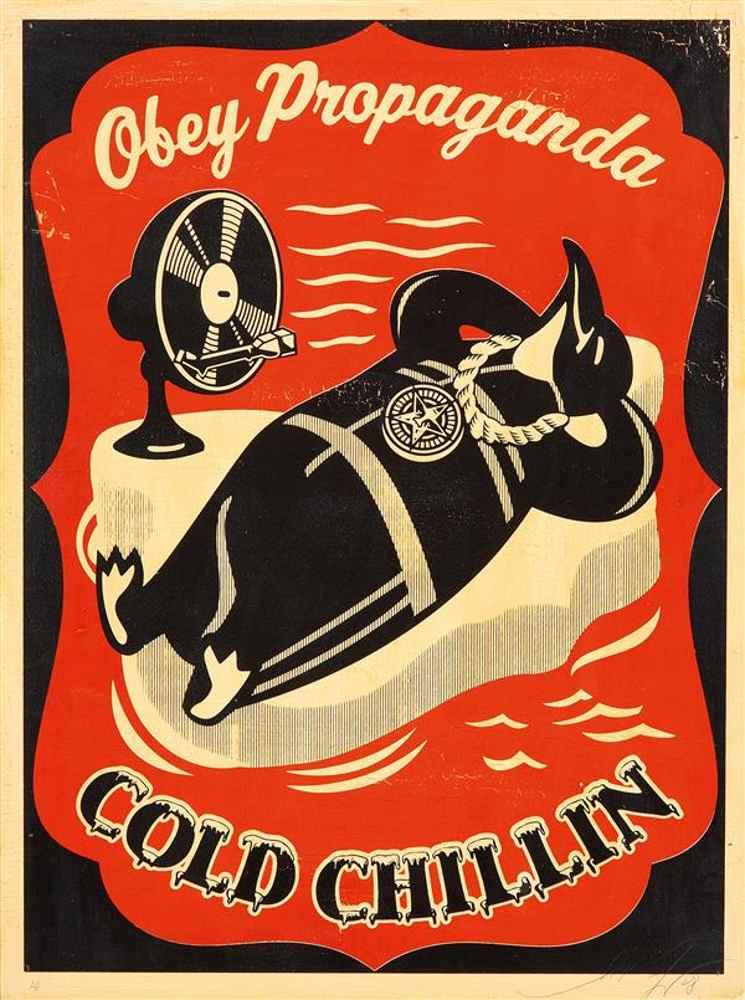Shepard Fairey-Cold Chillin-2008