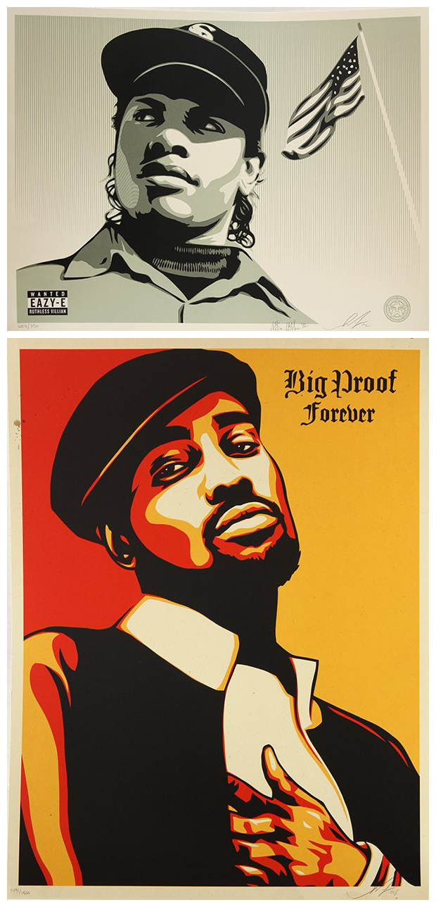 Shepard Fairey-Compton's Most Wanted/Big Proof Forever-