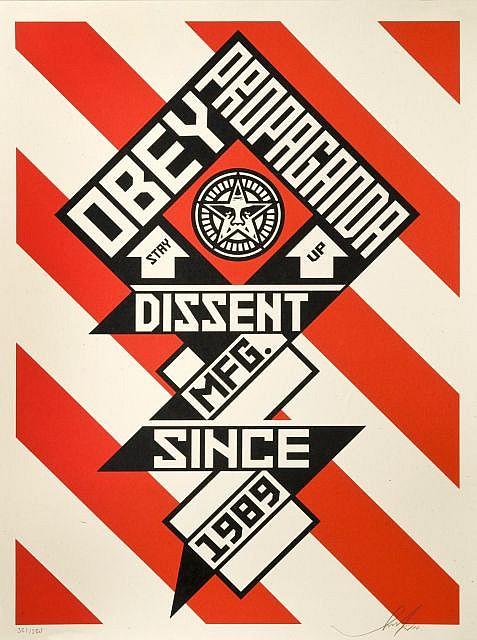 Shepard Fairey-Constructivist Banner (Cream Edition)-2010