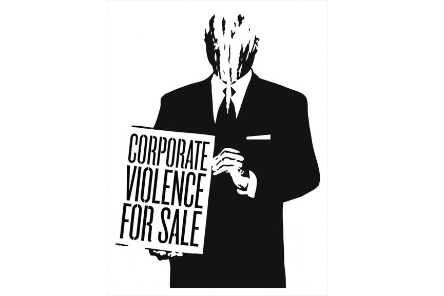 Shepard Fairey - Corporate Violence for Sale, 2011