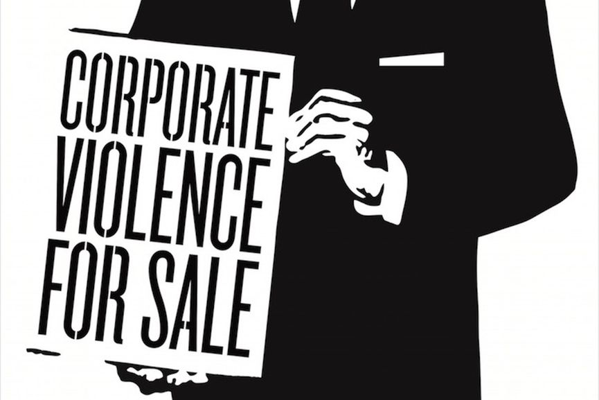 Shepard Fairey - Corporate Violence for Sale (detail), 2011