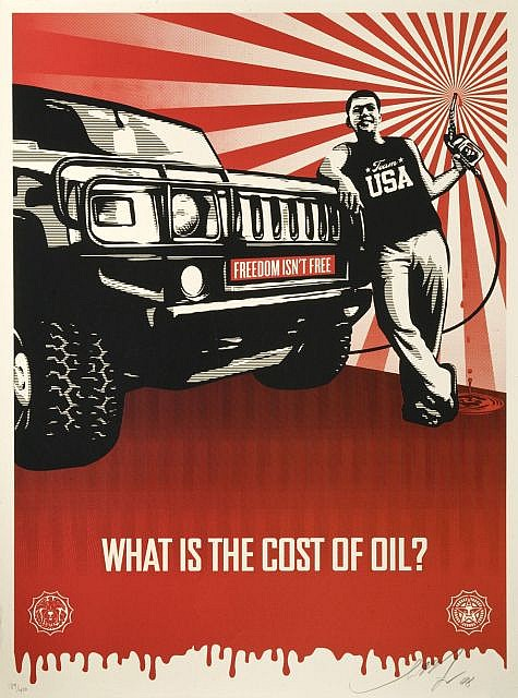 Shepard Fairey-Cost of Oil-2008