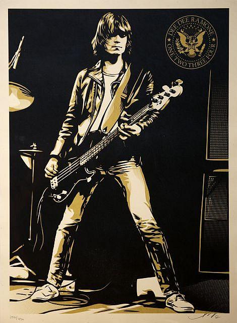 Shepard Fairey-Dee Dee Ramone, one two, three, four-2012