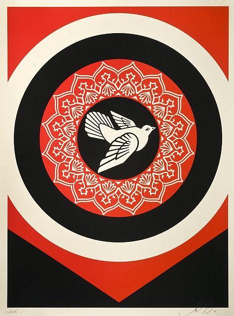 Shepard Fairey-Dove (Black Edition)-2011