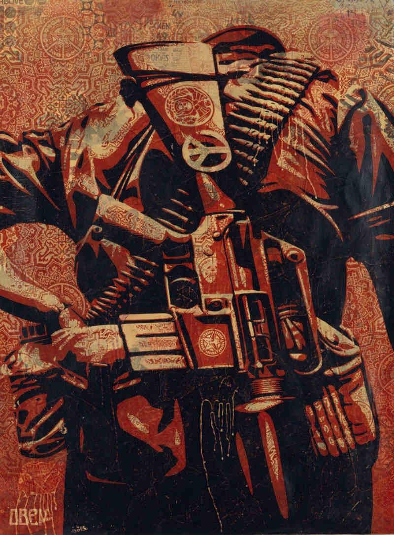 Shepard Fairey-Duality of Humanity 3-2008