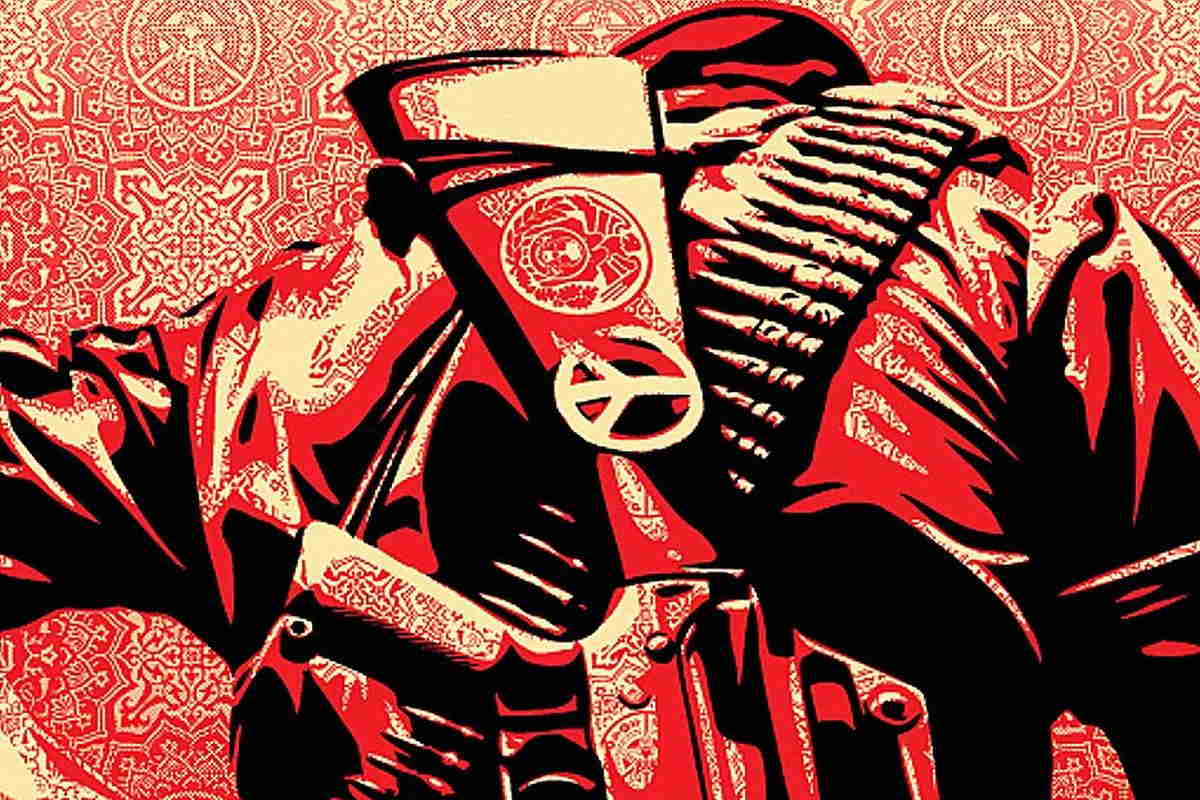 Shepard Fairey art obey contact 2010 giant press