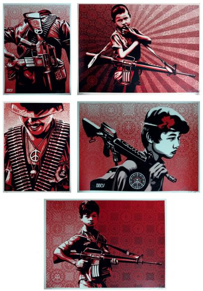 Shepard Fairey-Duality Of Humanity Set-2009