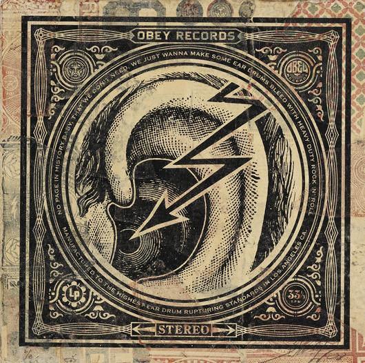 Shepard Fairey-Ear Drum HPM Album Cover-2008