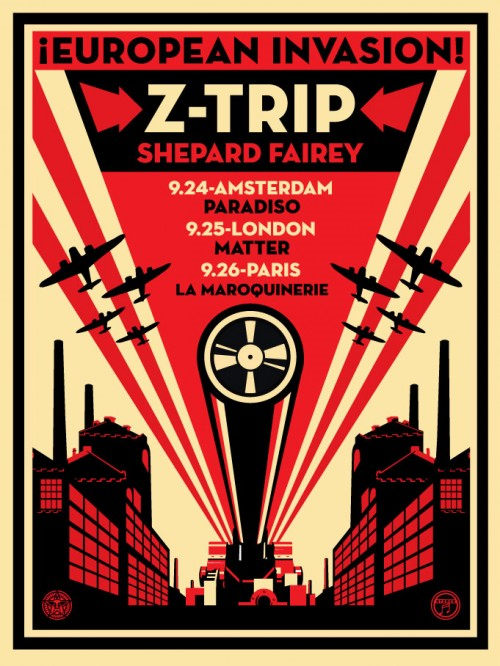 Shepard Fairey-European Invasion Z Trip-2007