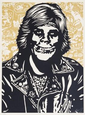 Shepard Fairey-Fiend Rocker Gold-2007