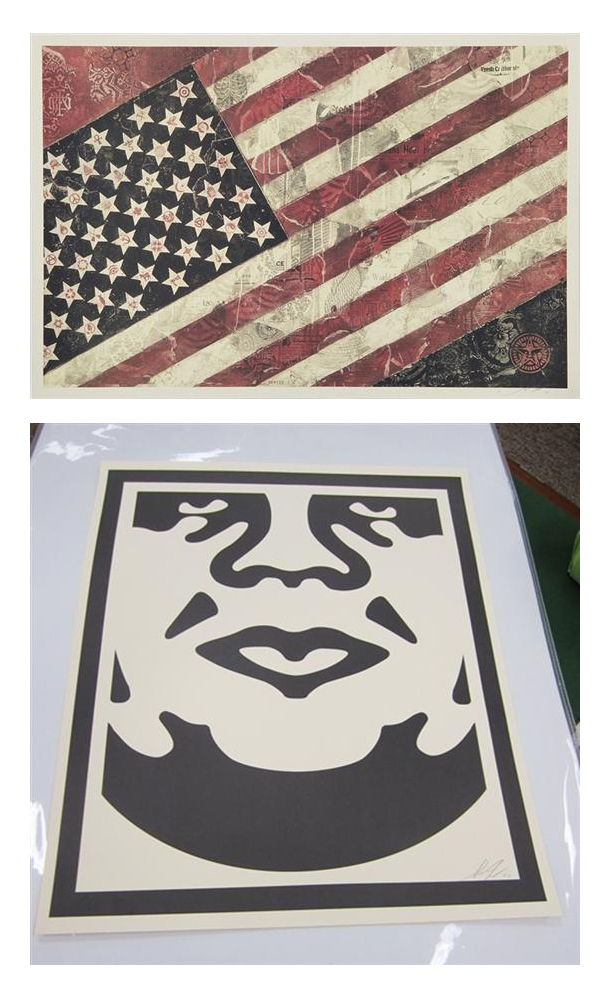 Shepard Fairey-Flag and Obey-
