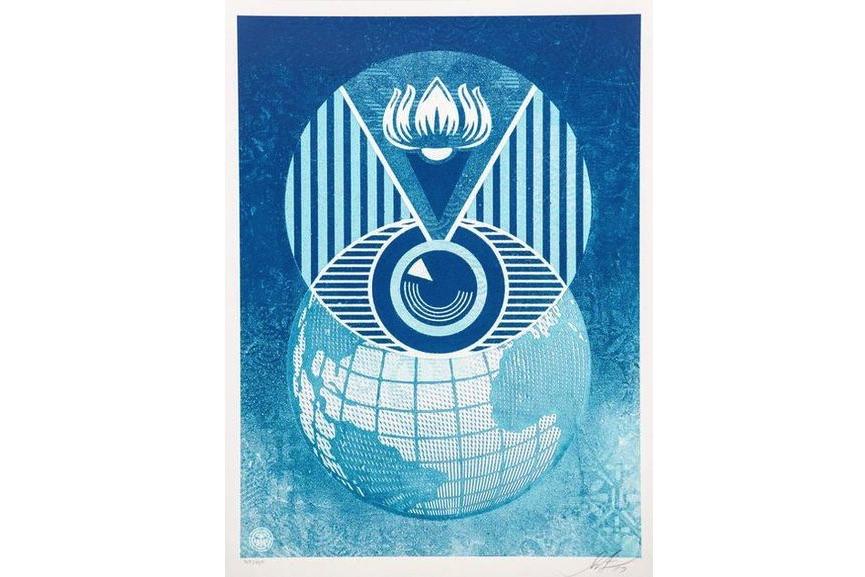 Shepard Fairey - Flint Eye Alert Globe