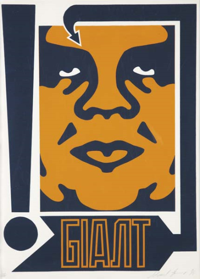 Shepard Fairey-Giant Mustard and Navy-1996